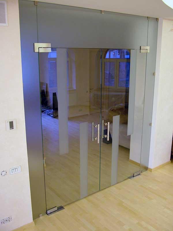 металлические распашные офисные двери