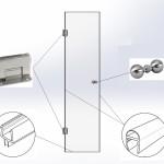 Дверь душевая №1 (2000х700)вш Стекло закалённое бесцветное 8мм